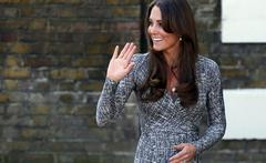 kate middleton offers rare baby bump glimpse